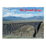 Puente de la garganta del Rio Grande Postal