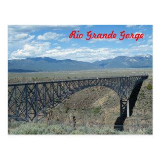 Puente de la garganta del Rio Grande Tarjeta Postal