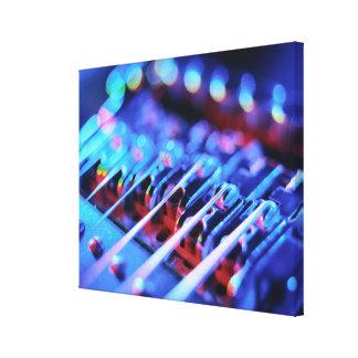 Puente de la guitarra eléctrica impresión en lienzo