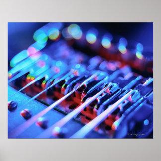 Puente de la guitarra eléctrica póster
