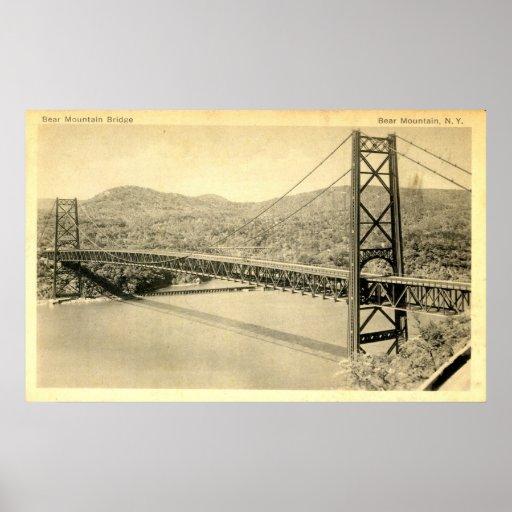 Puente de la montaña del oso, el río Hudson NY, vi Póster