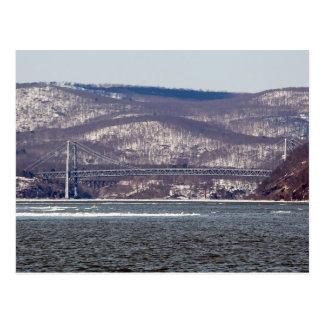 Puente de la montaña del oso postal