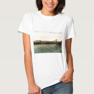 Puente de la montaña del oso, vintage 1927 del río playera