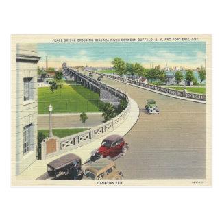 Puente de la paz del vintage que cruza Nueva York, Tarjeta Postal