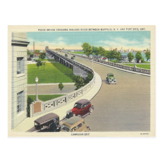 Puente de la paz del vintage que cruza Nueva York, Postales