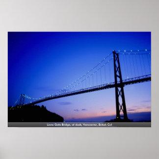 Puente de la puerta de los leones, en la oscuridad impresiones