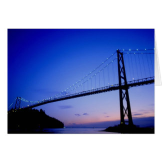 Puente de la puerta de los leones, en la oscuridad tarjetas