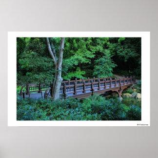 Puente de la roca del banco, Central Park, New Póster