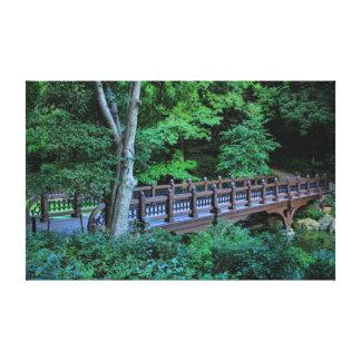 Puente de la roca del banco, Central Park, New Yor Lona Envuelta Para Galerías