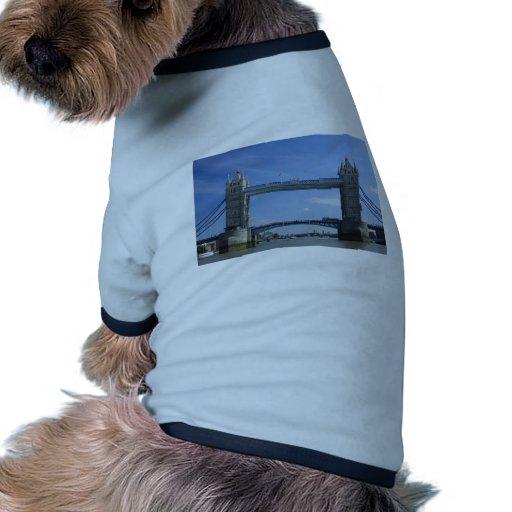 Puente de la torre - Británicos Camiseta Con Mangas Para Perro