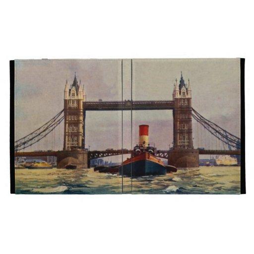 Puente de la torre de la acuarela, vapor Londres