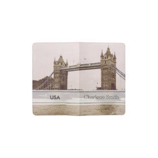 Puente de la torre de la sepia, Londres, Reino Funda Para Libreta Y Libreta Pequeña Moleskine