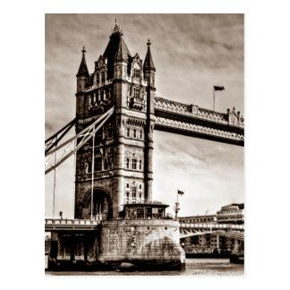 Puente de la torre de Londres de la sepia del Tarjetas Postales