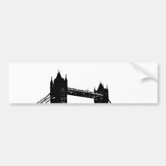 Puente de la torre de Londres del arte pop Pegatina Para Auto