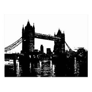 Puente de la torre de Londres del arte pop Tarjetas Postales