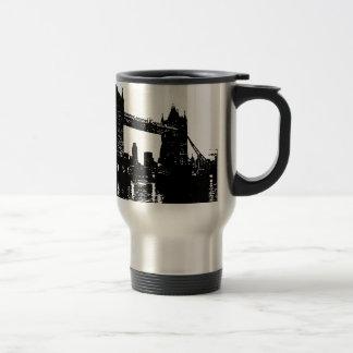 Puente de la torre de Londres del arte pop Taza Térmica