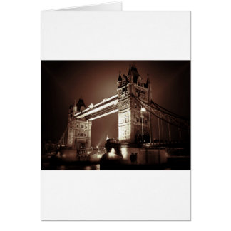 Puente de la torre de Londres en la noche Tarjeta De Felicitación