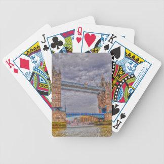 Puente de la torre de Londres, Inglaterra y el río Baraja Cartas De Poker