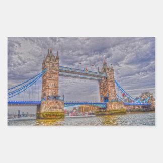Puente de la torre de Londres, Inglaterra y el río Rectangular Altavoz