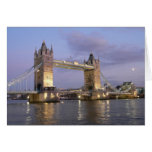Puente de la torre de Londres Notecard Tarjeta