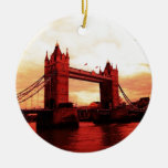 Puente de la torre de Londres Ornamento De Navidad