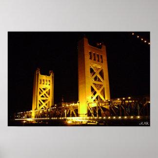 Puente de la torre de Sacramento Posters