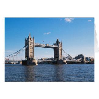 Puente de la torre en el río Támesis Felicitaciones