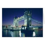 Puente de la torre en la oscuridad tarjeta de felicitación