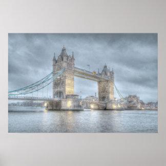Puente de la torre en Londres Póster
