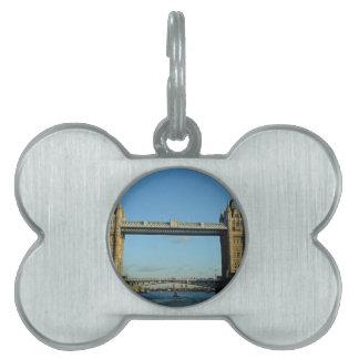 Puente de la torre en Londres sobre el río Támesis Placas Mascota