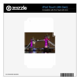 Puente de la torre en rosa de la princesa iPod touch 4G calcomanías