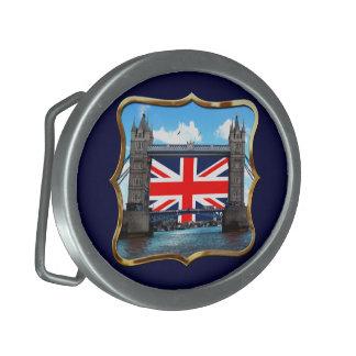 Puente de la torre hebillas de cinturón ovales