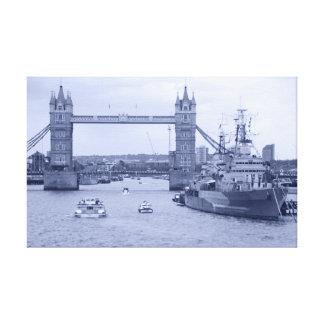 Puente de la torre HMS 2012 Belfast Lona Envuelta Para Galerias