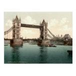 Puente de la torre, Londres c.1895 Postal