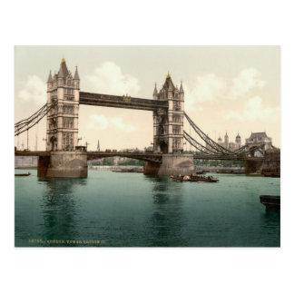 Puente de la torre Londres c 1895 Postal