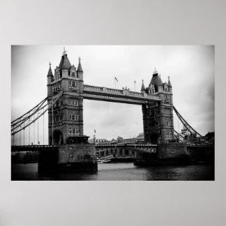 Puente de la torre, Londres, Reino Unido Póster