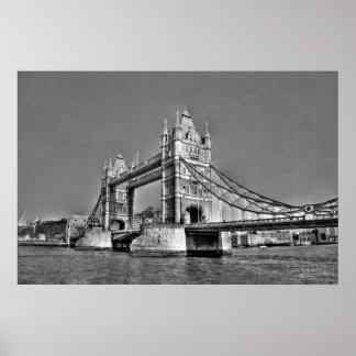 Puente de la torre - Londres Reino Unido Póster