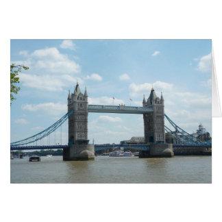 Puente de la torre, Londres Tarjeta De Felicitación