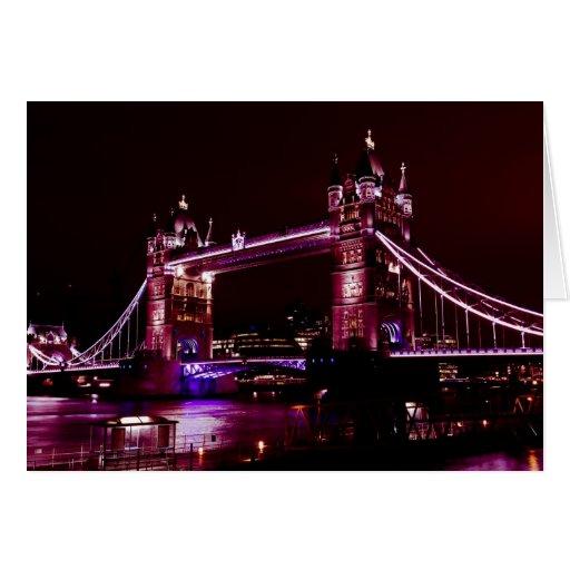 Puente de la torre tarjeta de felicitación