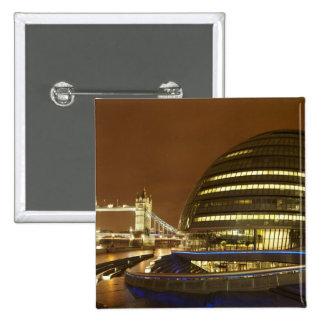 Puente de la torre, y autoridad de mayor Londres Pin Cuadrada 5 Cm