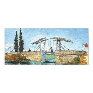 """Puente de Langlois en Arles de Vincent van Gogh Invitación 4"""" X 9.25"""""""