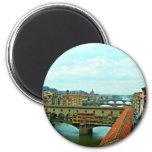 Puente de las compras de Florencia, Italia Iman
