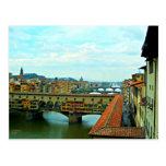 Puente de las compras de Florencia, Italia Tarjeta Postal