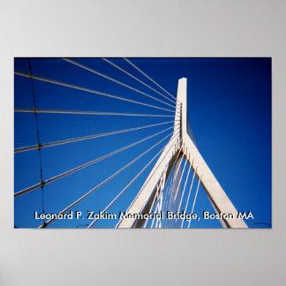 Puente de Leonard P. Zakim Memorial Póster