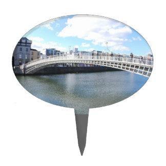 Puente de Liffey - puente del medio penique Figura Para Tarta