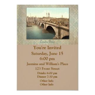 """Puente de Londres a través del río Támesis Invitación 5"""" X 7"""""""
