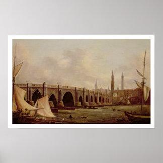 Puente de Londres aceite en lona Impresiones