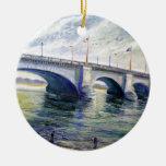 Puente de Londres de Alfred Zwiebel Adorno Redondo De Cerámica