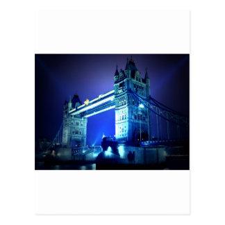 Puente de Londres en la noche Tarjeta Postal