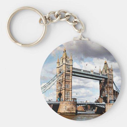 Puente de Londres Llavero Redondo Tipo Pin
